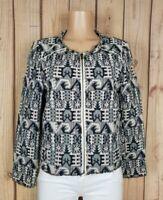 HEI HEI Anthropologie Womens Size 12 Petite Long Sleeve Zipper Textured Jacket