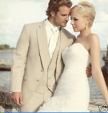 trajes de novio hombre veste blazer chaine men champagne linen suit wedding tuxe
