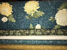 New listing 5 Yards Quilt Fabric Kit - Benartex Mum for Mum Fabrics - teal colorway