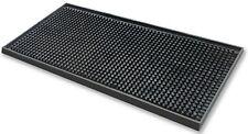 More details for black rubber bar mat mini cocktail mat drip mat 12