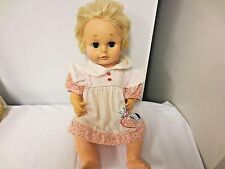 "1974 Eegee 16"" Drink & Wet Hard Plastic Baby Doll - AS SHOWN"