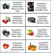 SMALL PERSONALISED JAM JAR/POT CONSERVE PRESERVE LABELS 21 Per Sheet