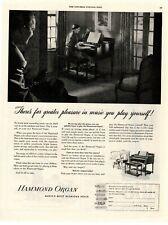 1949 Original Vintage Hammond Organ Magazine Ad