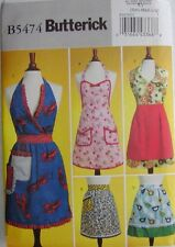 Butterick Sewing Pattern 5474 Misses Aprons Apron Sizes S-L NEW
