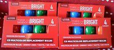 LOT 16 Bulbs C-9 Replacement BULB 4 PKS Holiday Lights Bulbs Indoor OUTDOOR Blue
