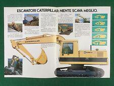 (D25) Pubblicità Advertising DEPLIANT CATERPILLAR ESCAVATORI 215B LC  (1986)