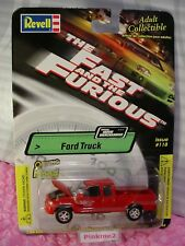 2002 Revell The Fast & The Furious FORD TRUCK☆red; opening hood☆Issue #118☆1/64