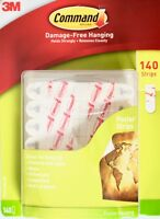 3M Command Poster Strips Damage-Free Hanging Value Pack, 140 or 280 Strips