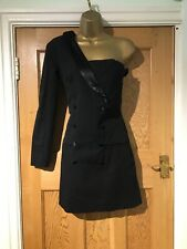Zara TRF Collection Dress Size M Black Asymetrical Body Con Stunning Lined