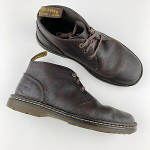 Doc Dr Martens Sussex Brown Pebbled Leather Chukka Work Boots Men's 11