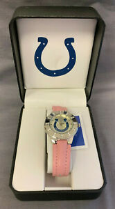 Indianapolis Colts NFL Pink Ladies Watch New Battery Included *See Description