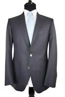 Scabal NWT Blazer In Solid Textured Gray Sharp Silver Buttons ~40R S150's