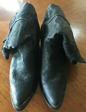 Durango Cowboy Boots black Womens Size 6 M Embroidered