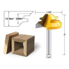 "45Degree Mitre Miter Parallel Lock 1/4""Shank Corner Joint Router Drill Bit.Pro~"