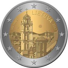LITUANIA 2 EUROS 2017 - VILNA, CAPITAL CULTURAL DEL ESTADO - SIN CIRCULAR -