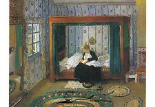 Kunstpostkarte - Heinrich Vogeler:  Schlafgemach im Barkenhoff