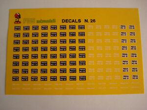 1/43 DECALS DECAL PROVA MO TARGHE CAR FERRARI MODELS