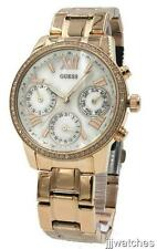 New Guess Women Rose Gold Multifunction 24 Hours Crystals Watch 38mm W0623L2