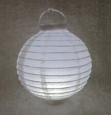 5Pcs Plain White Led Light Up Paper Lanterns 20cm