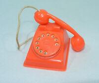 RARE Jouet ancien cadeau lessive BONUX TELEPHONE Rose/saumon Vintage 60's