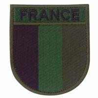 Ecusson brodé Armée Française basse visibilité vert France