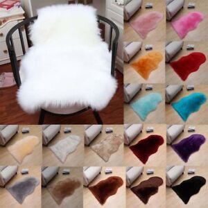 Sheepskin Shearling Fur Bedside Rug Faux Fur 60x90 60x120 100x180cm