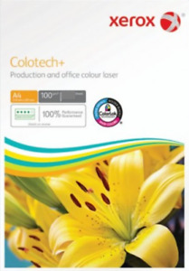 100 SHEETS A4 SUPER SMOOTH 100GSM XEROX COLOTECH+ WHITE PAPER FOR COLOUR LASER