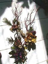 MANZANITA BRANCH Centerpiece, or Wreath Purple Poinsettia Bling! ~Christmas OOAK