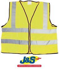 Bike It Reflective Vest Hi-Viz Fluorescent Yellow Motorbike Motorcycle Biker J&S