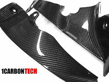 09 - 13 YAMAHA YZF R1 CARBON FIBER INNER FIN MID SIDE TRIM PANELS