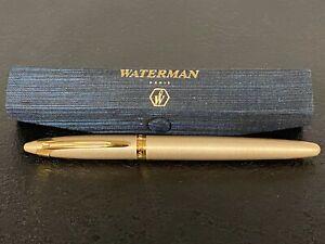 Waterman Paris Fountain Pen in Gold - France Medium Nib Ink