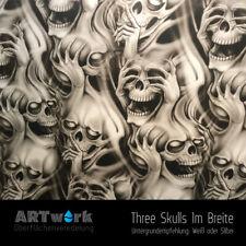 Wassertransferdruck Folie WTD Starterset 1m Three Skulls + Aktivator