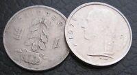 1 Franco Belgio 1957 e 1978 - Lotto di 2 Monete- n. 1157