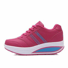 Women's Striped Lace Up Athletic Shoes