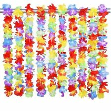 12 Hawaiian Flower Garland Leis Necklace Fancy Dress Party Costumes Accessories