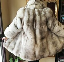 White Shadow  Fox  Fur Jacket/Coat