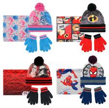 Boys Girls Kids Official Licensed Winter Hat, Gloves & Snood Set