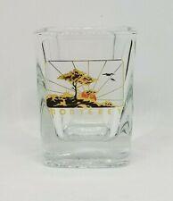 MONTEREY California Sunrise Travel Gold Print Shot Glass Bar Souvenir Shotglass