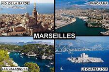 SOUVENIR FRIDGE MAGNET of MARSEILLES FRANCE