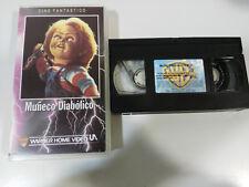 MUÑECO DIABOLICO CHUCKY CHILD´S PLAY TOM HOLLAND VHS HORROR TERROR CASTELLANO &