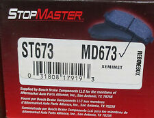 BRAND NEW STOP MASTER BRAKE PADS MD673 / D673 FITS VEHICLES LISTED ON CHART