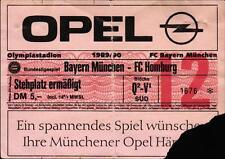 Ticket BL 89/90 FC Bayern München - FC Homburg, Stehplatz ermäßigt