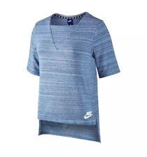 Nike Mujer Sportswear Advance 15 Azul T SHIRT Top Tamaño Pequeño 838954 450