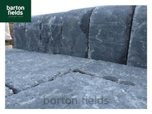 Tumbled High Kerbs for Driveways, 200mm High Kerb Edgings, Charcoal