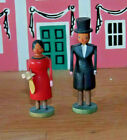 PUTZ German ERZGEBIRGE Wood Carved Christmas Village people Wedding couple Party