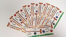 """Creative Memories Sticker Sheet Lot of 10 Croquet Summer Games 2"""" x 5"""""""
