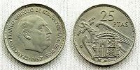 ESTADO ESPAÑOL 25 PESETAS 1957*58 UNC-/S/C- COLOR Y BRILLO ORIGINAL MUY ESCASA
