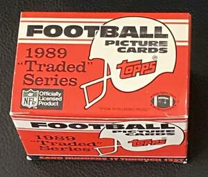 1989 Topps Traded Football (Empty) Factory Set Collectible Box (no cards)