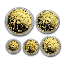 1986 China 5-Coin Gold Panda Set BU (Capsule Only) - SKU#167376