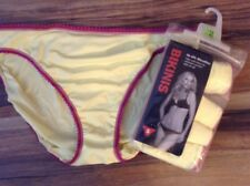 5 pack ladies ex store yellow silky soft fabric no vpl  just £5.00